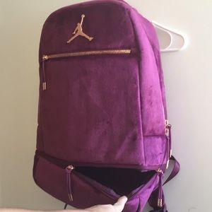 ed15d734e9 Jordan Bags - Authentic brand new Jordan purple velour backpack